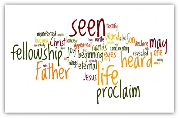 1 john 1:1-4 wordle